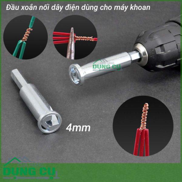 Đầu xoắn nối dây điện 4mm dành cho máy khoan