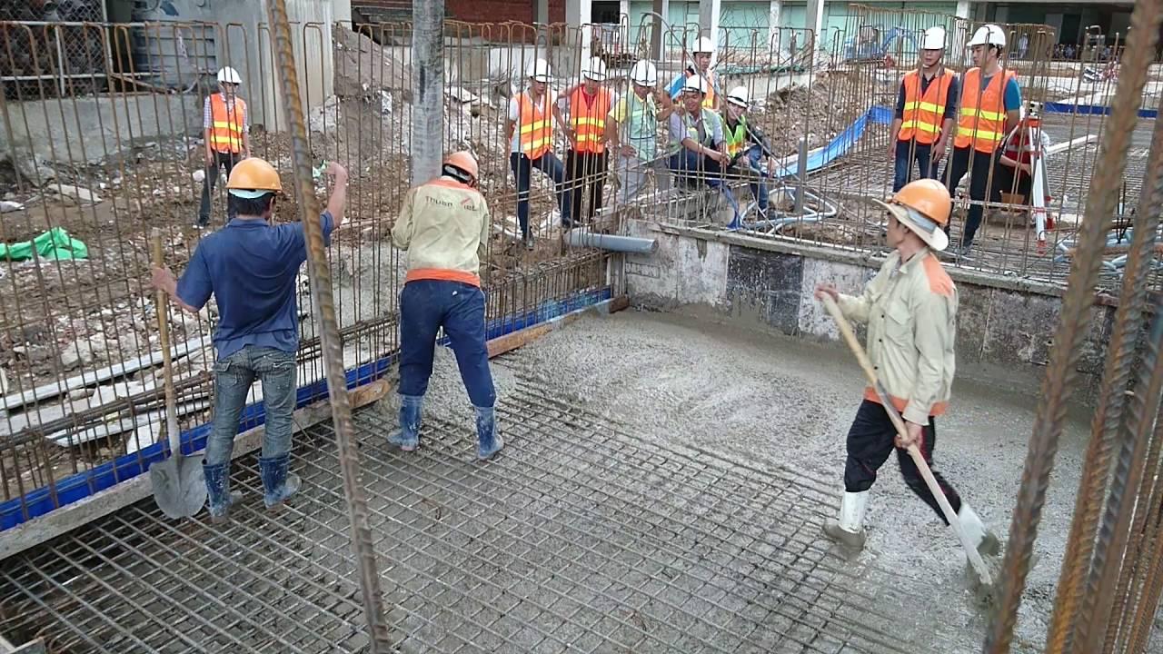 Quy trình đổ bê tông cột, dầm, sàn