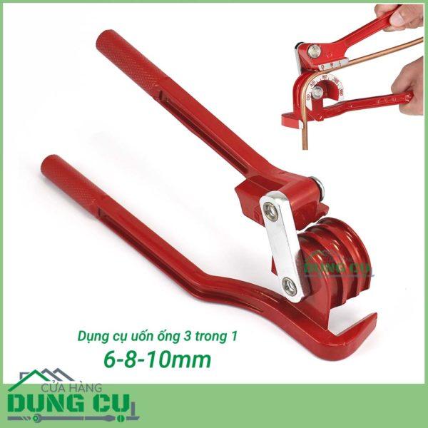 Dụng cụ uốn ống chuyên nghiệp 180°  3 in 1 6/8/10mm