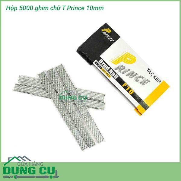 Hộp 5000 ghim bấm gỗ chữ T 10mm Prince