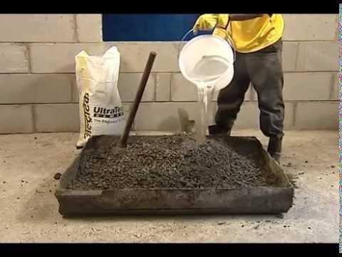 Phương pháp trộn bê tông và tỷ lệ các thành phần