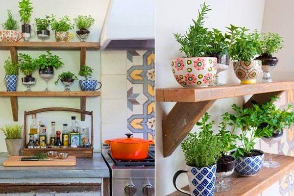 Mang thiên nhiên vào phòng bếp tạo không gian xanh