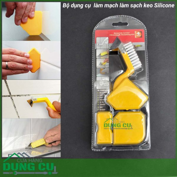 Bộ 4 dụng cụ xử lý mạch và làm sạch keo Silicone