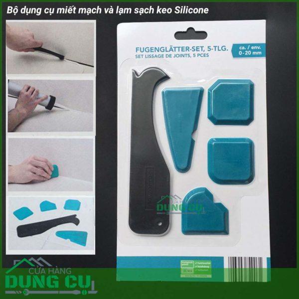Bộ 5 dụng cụ miết mạch keo silicone và cạo sạch keo Silicone
