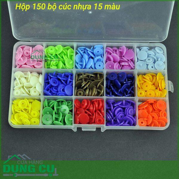 Hộp 150 bộ cúc nhựa dành cho kìm bấm cúc