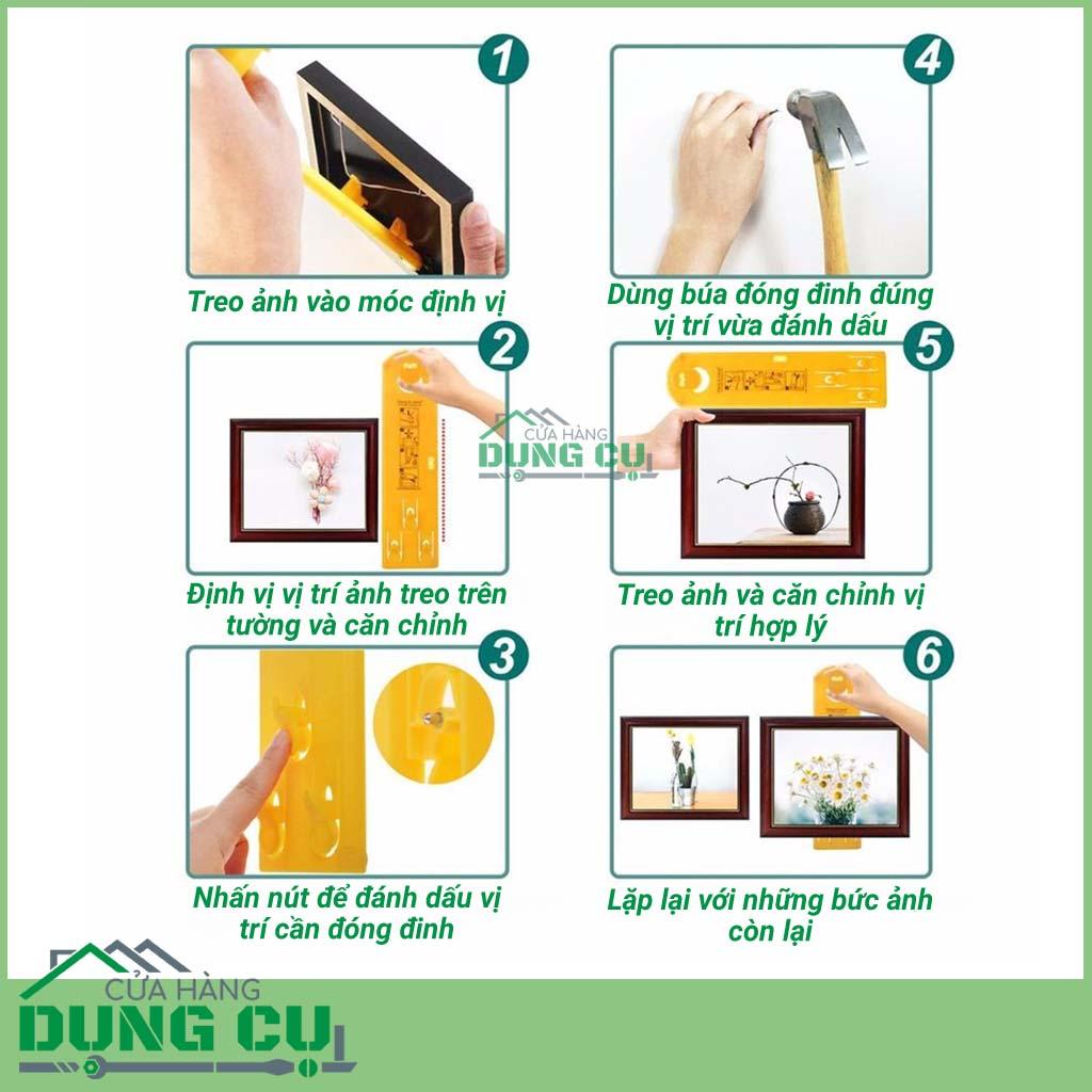 Dụng cụ định vị vị trí treo tranh, ảnh, gương, đồng hồ