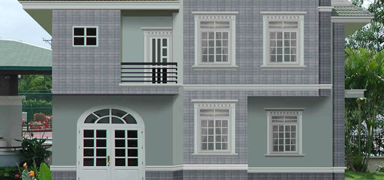 Kinh nghiệm phối màu sắc gạch trang trí mặt tiền nhà