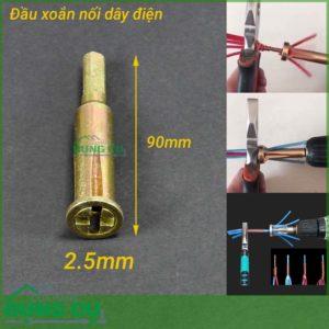 Đầu xoắn nối dây điện 5 lỗ 2.5mm