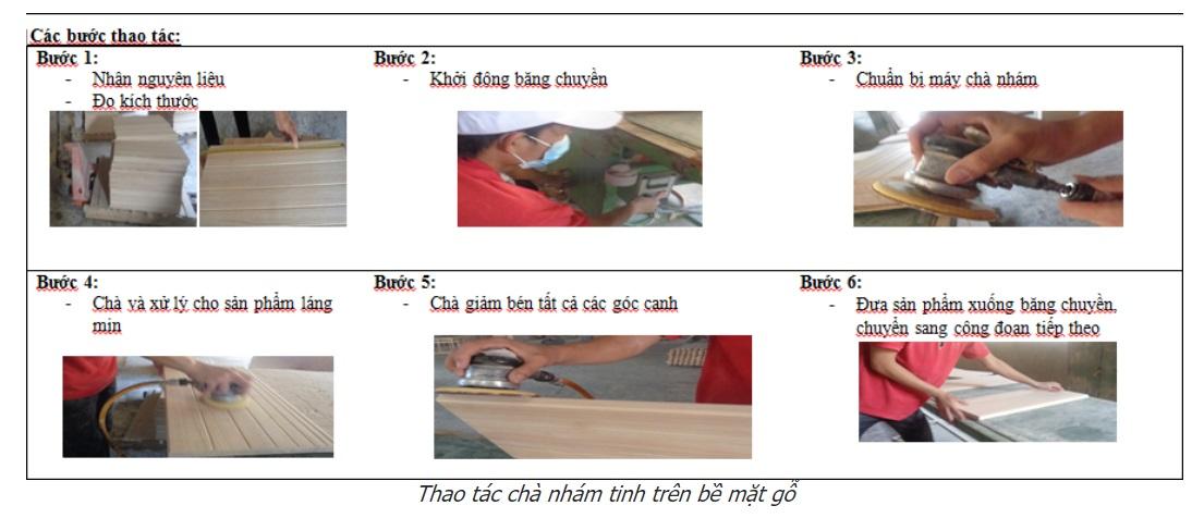 Quy trình chà nhám đồ gỗ