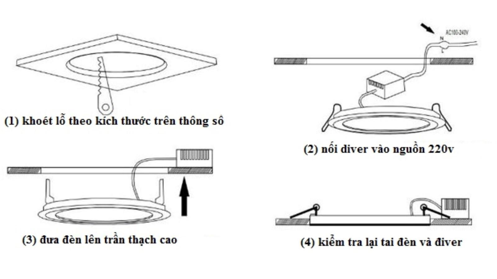 Hướng dẫn thay bóng đèn LED âm trần dễ dàng