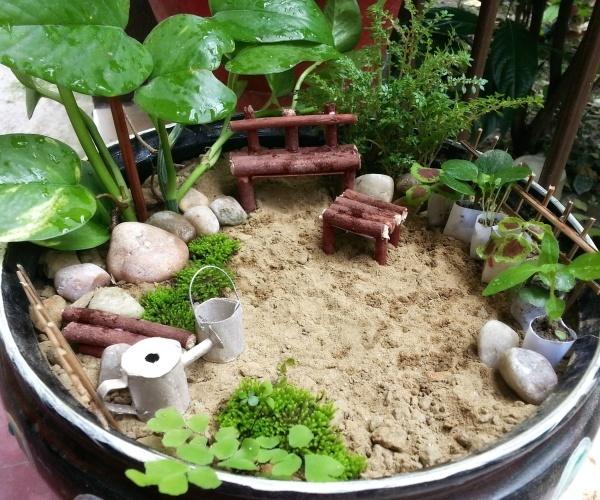 Cách trang trí tiểu cảnh Zen tạo điểm nhấn sân vườn