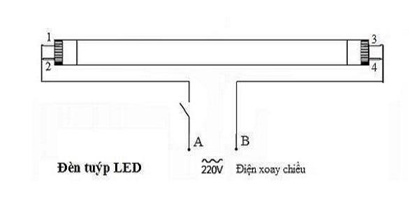 Cách đấu điện bóng đèn tuýp an toàn