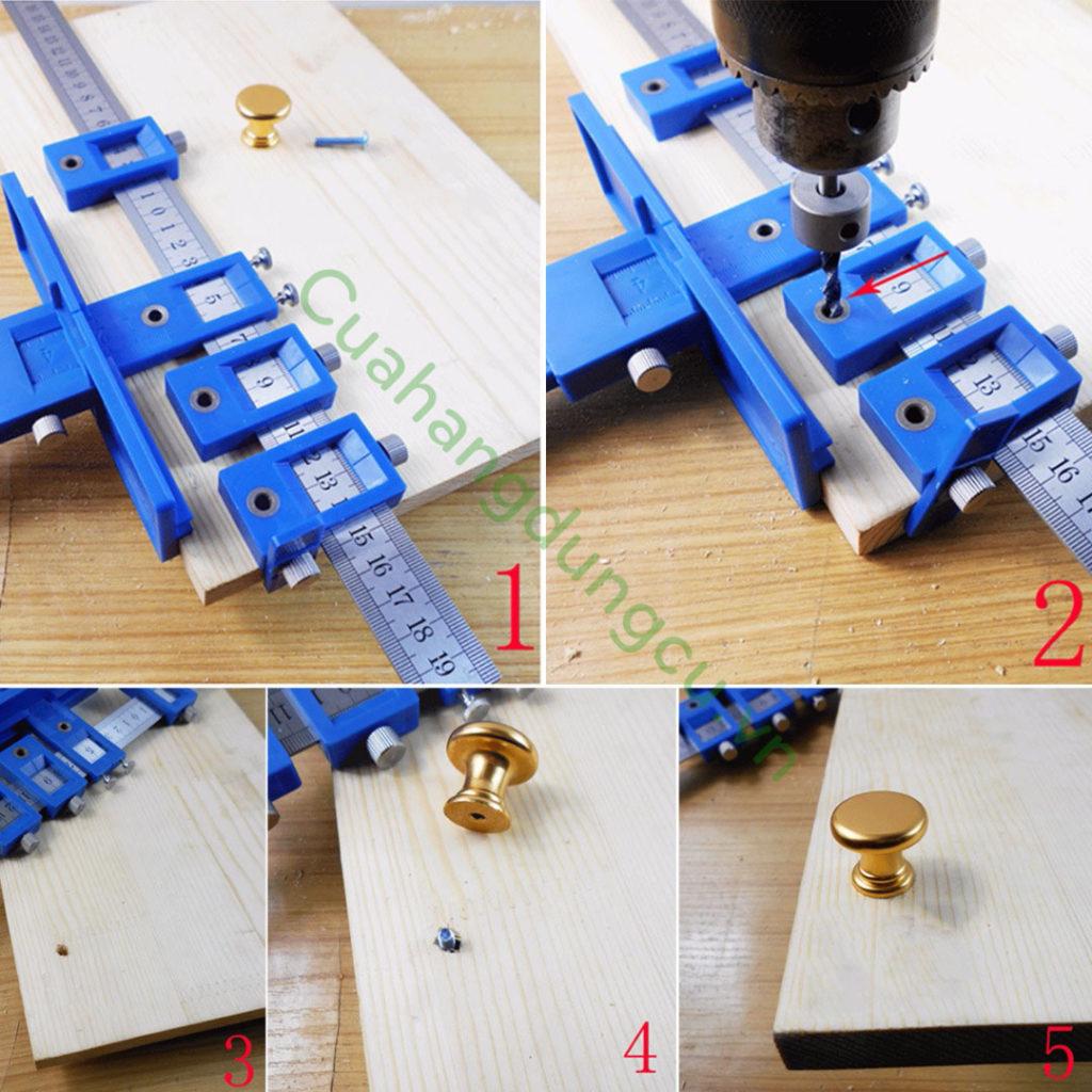 Hướng dẫn sử dụng thước định vị lỗ khoan
