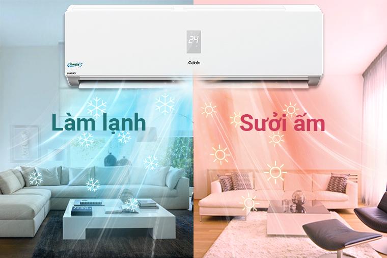 Kinh nghiệm sử dụng chế độ sưởi ấm ở điều hòa tiết kiệm điện