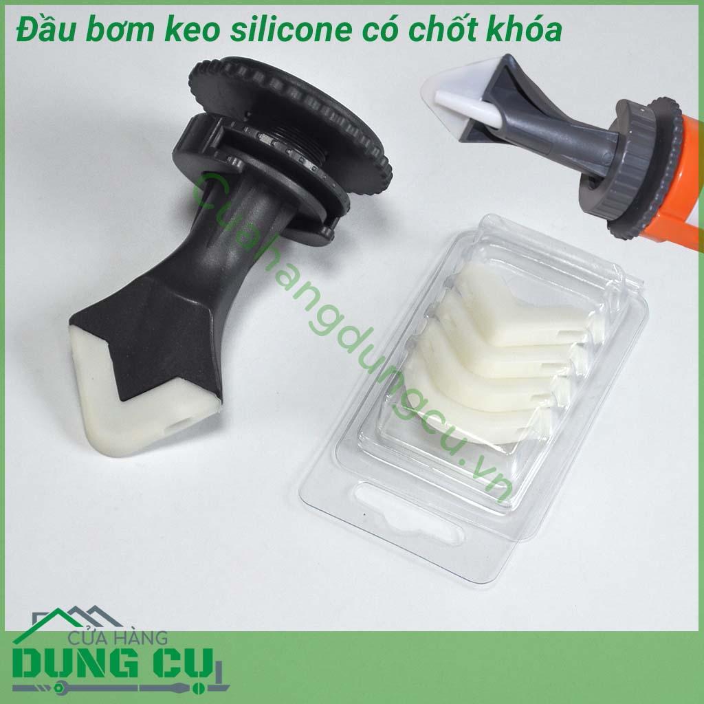 Đầu bơm keo silicone có chốt khóa