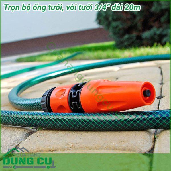 Bộ ống tưới vòi tưới vườn Cellfast 3/4″ Dài 20m 10-102
