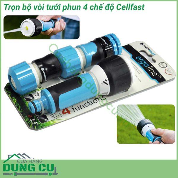 Bộ vòi tưới cây, tưới vườn rửa xe đa năng Cellfast 3/4″ 53-515
