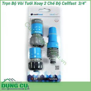Trọn bộ vòi tưới xoay 2 chế độ Cellfast
