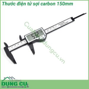 Thước điện tử sợi carbon 150mm