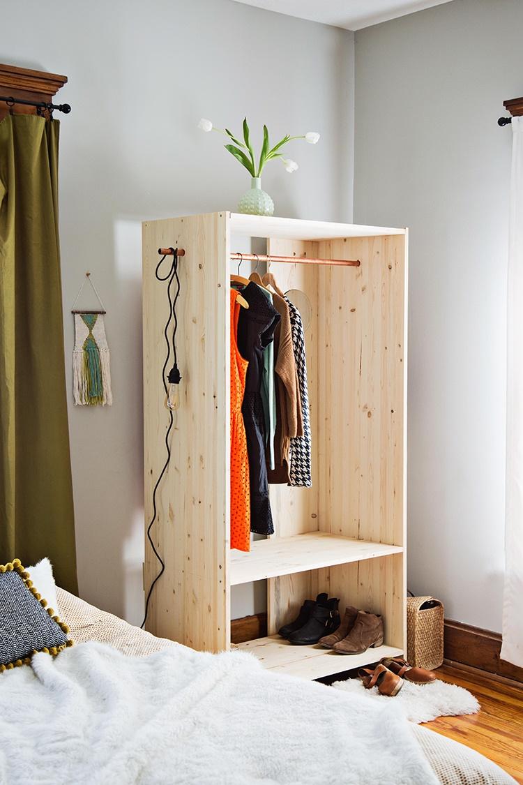 Hướng dẫn cách đóng tủ gỗ treo quần áo chi tiết