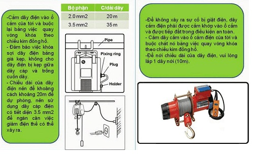 Hướng dẫn sử dụng máy tời điện