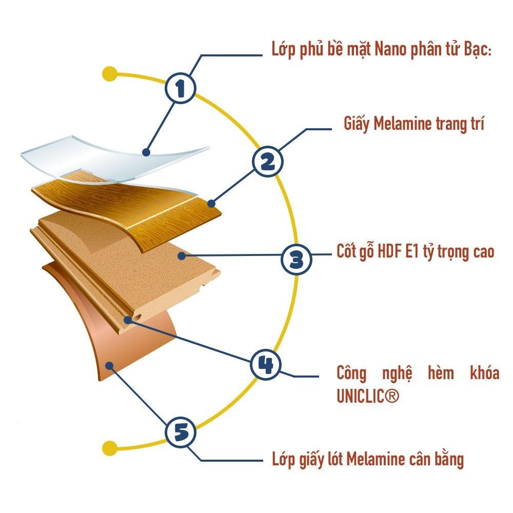 Hướng dẫn tìm hiểu cấu tạo sàn gỗ cao cấp