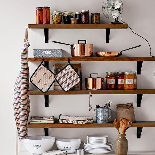 Cách đóng kệ nhà bếp treo tường trang trí