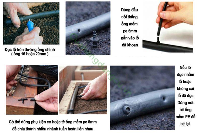 Dụng cụ đục lỗ ống mềm cầm tay