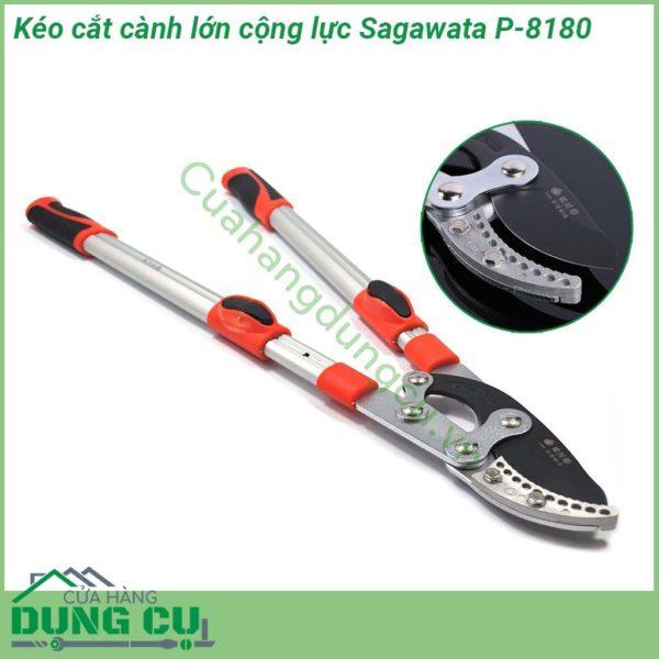 Kéo cắt cành lớn cộng lực có tăng độ dài cán Sagawata