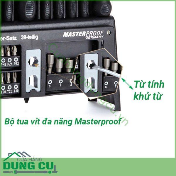 Bộ tuốc nơ vít đa năng 39 chi tiết MasterProof