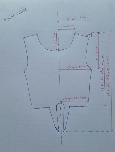 Hướng dẫn cắt may áo croptop