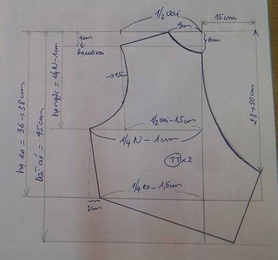Cách cắt may áo croptop chéo eo