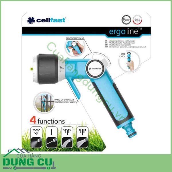Vòi tưới cây rửa xe cao cấp Cellfast 4 chế độ phun 53-330