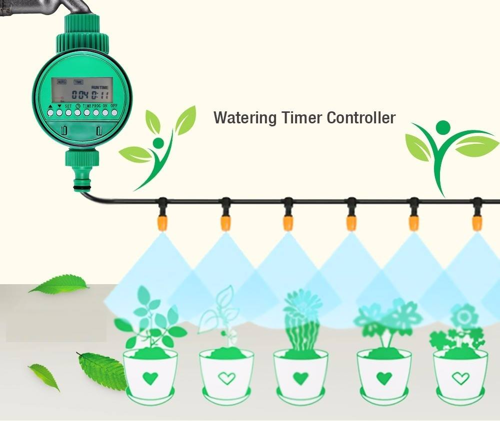 Nhờ những thiết bị này mà ta có thể thiết lập giờ tưới, ngày tưới trong tuần và thời gian mỗi lần tưới cho hệ thống tưới tại nhà.