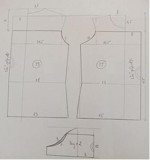 Cách cắt may áo trễ vai nhún thun
