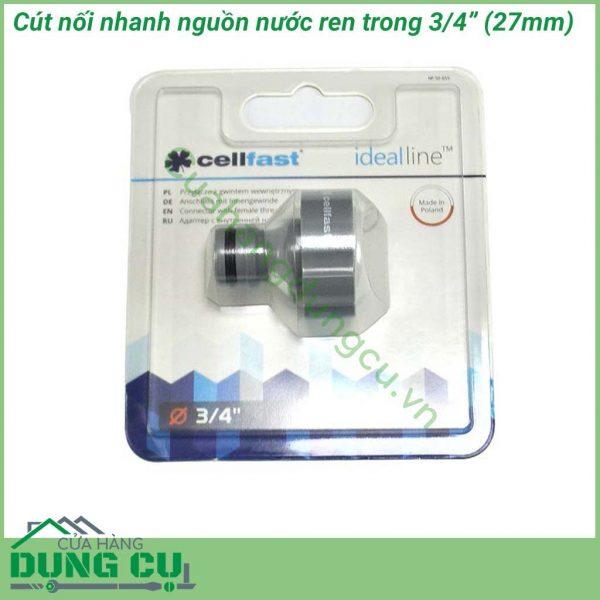 Cút nối ren trong Ideal Line Plus Cellfast 50-655