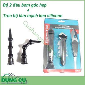 Combo Bộ 2 dụng cụ bơm góc hẹp và Bộ dụng cụ làm mạch và làm sạch keo Silicone 16042