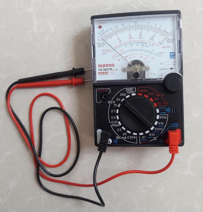 Cách kiểm tra tụ điệnbằng đồng hồ kim vạn năng