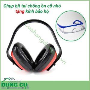 Chụp bịt tai chống cỡ nhỏ bảo vệ tai tặng kính bảo hộ