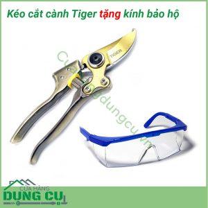 Kéo cắt cành tiger tặng kính bảo hộ