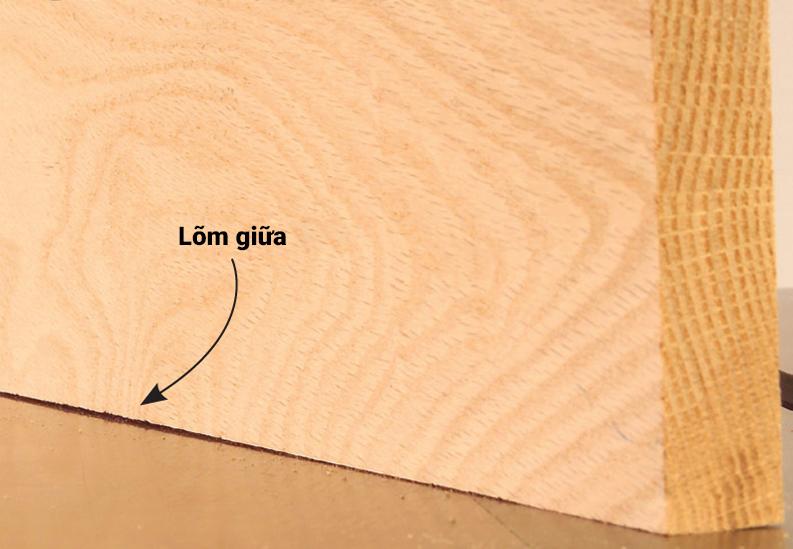 Phôi gỗ khi bào bị lõm giữa