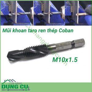 Mũi khoan và taro ren thép Coban M10x1.5